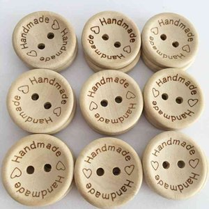 15mm 20mm 25mm Wooden Buttons Clothing Decoration Wedding Decor Handmade Letter Love DIY Crafts Scrapbooking For Sewing Accessories