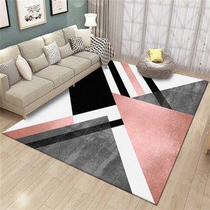 Nordic Geometric Carpet Modern Living Room Home Decoration Rug Bedroom Hallway Non Slip Mats Pink Doormats Lounge Carpet 160X230 1284 V2