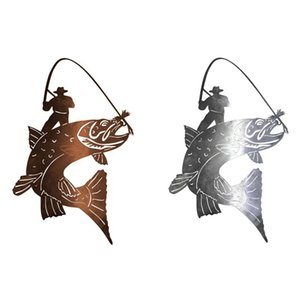Novelty Items Wall Hanging Stainless Steel Fishing Pendant Fathers Day Gift For Dads Tool Room Living Bedroom Home Decor