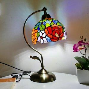 Table Lamps Tiffany Lamp Bedroom Bedside Decoration Lights European Creative E27
