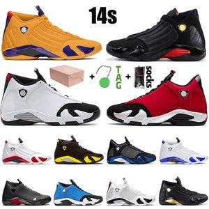 2021 Jumpman 14 14s XIV University Gold Men Basketball Shoes Gym GymJordanRed Athletics Mens Outdoor Sports Sneakers Trainers Size 13