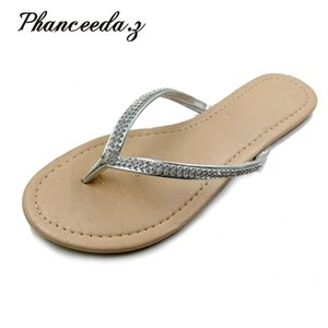 Shoes Women Summer Sandals Beading and Flowers Casual Buckle Beach Floral For Flip Flops 210903