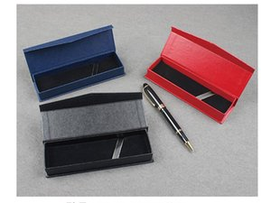 Red Blue Black Office Pen Display Packaging Boxes blank Gift Jewelry Packaging Box pen packing box paper case