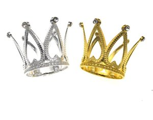 Nouveaux bougeoirs Crown Cake Cake Topper Vintage Tiara Toppers Baby Douche Anniversaire Décoration Gold Argent Petite EWE7672
