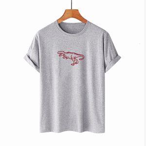 2021 Short T-shirt Men's Fashion Printed Half Sleeve Loose Round Neck Casual Base Shirt