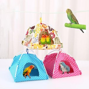 Bird Cages Pet Parrot Parakeet Budgie Hammock Cage Hut Tent Bed Hanging House Cave Nest Accessories Sleeping Products