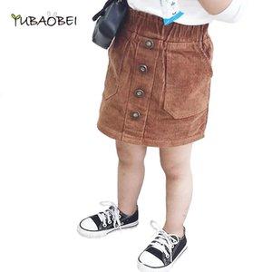 Skirts Children Skirt 2021 Fashion Soild Button Kids Autumn Toddler Girls Baby Girl Clothes For 2-8Years