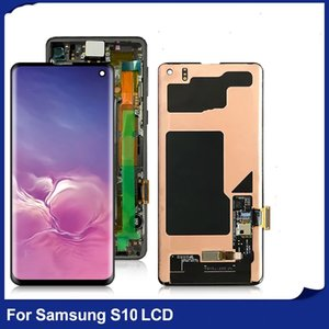 High Quality Cell Phone Panels For Samsung Galaxy S10 PLUS LCD Display Touch Sreen Digitizer Assembly Replacement Parts