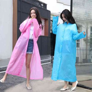 Thickened adult non disposable EVA fashion environmental protection travel outdoor light raincoat rain batch