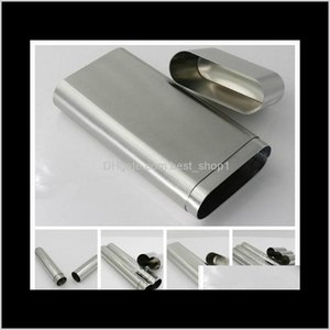 Smoking Accessories Household Sundries Home Garden Drop Delivery 2021 7 Styles Stainless Steel Holder Storage Tube Cigar The Travel Companion