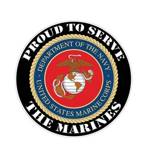 Exterior Accessories US Marine Corps car stickers support defense please help me God Decal 3D PVC