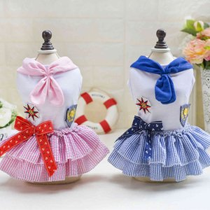 Dogs Clothes Dog Apparel Pet Cat Teddy Dress Sailor Skirt Spring Summer
