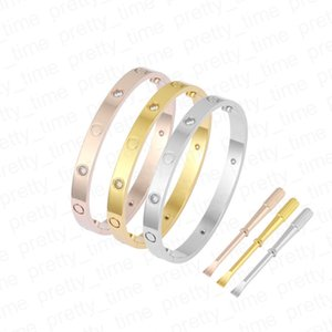 lover screw Bangles 5.0 designer classic mens gold bracelet 2021 luxury jewelry women Titanium steel Gold-Plated diamond bracelets