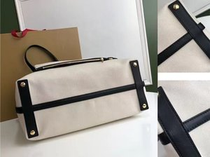 The latest ladies' hand bag British designer 7A high-end customized quality leisure fashion style selection of cotton canvas and flexible leather