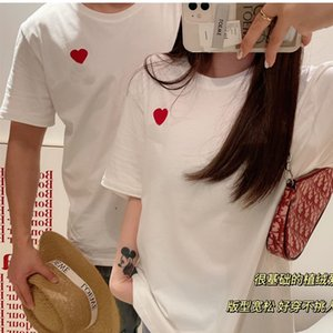 Men Fashion T Shirts 2021 Trendy Women Tshirts Embroidery with Couples dress Letter Mens Womens Summer Black white Casual Breathable Tee Tops
