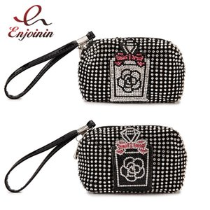 Chic Coin Purse for Women Small Mini Wallet Holder Perfume Bottle Pattern Luxury Female Wallet Case Card Key Money Bag Zip 2021 C0601