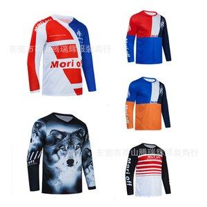 2021 새로운 럭셔리 패션 디자이너 폭스 헤드 자전거 의류 오프로드 티셔츠 오토바이 옷 DH 산악 자전거 사이클링 유니폼 탑 망 L
