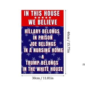 2024 US Presidential Campaign Flag New 30*40cm Trump Garden Support Decorative Accessories HWF10515