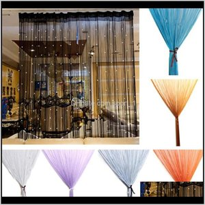 Treatments Textiles Home & Garden Drop Delivery 2021 Beaded Panel Glitter Crystal Ball Tassel String Line Door Window Curtain Living Room Div