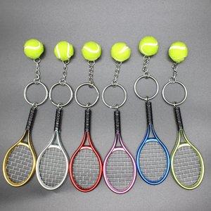 Mini tennis tennis racket keychain creative personality DAKR158 mix order key chain Keychain 1113 Q2