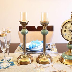Candle Holders 2pcs set Europe Ice Crack Candlestick High Quality Retro Metal Holder Romantic Wedding Table Centerpieces Home Decor