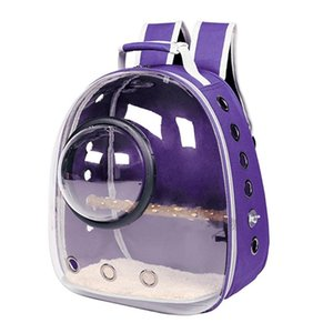Parrot Carrier Backpack Travel Cage Birds Breathable Transparent Space A69C