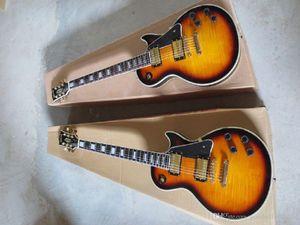 2014 New arrival Wholesale retail Quality guitar guitar factory LP custom electric guitar frets binding