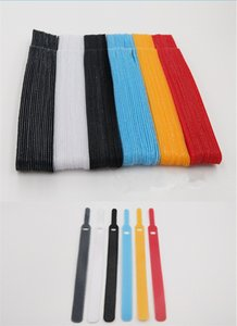 Strapping Tape Nylon Cable Ties Reusable Cord Organizer Keeper Holder Cable Clip Ties for Earbud Headphones Phones Wire Wrap dff0188