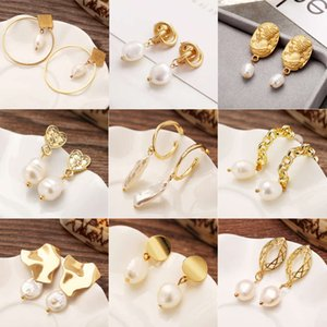 freshwater pearl chic style creative temperament simple earrings for women jazls09