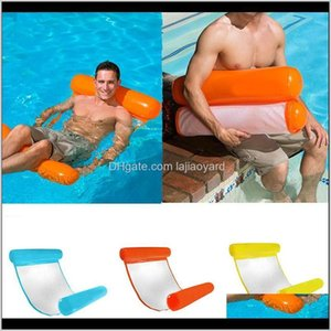 Floats Tubes Foldable Water Float Lounger Toys Floating Chair Swimming Pool Inflatable Hammock Bed Mc162 Kcyzx Qdv7I