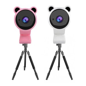 Camcorders 2MP 1080P Pink USB Webcam Focus Night Vision Computer Web Camera In Mic Video For PC Laptop Live Broadcast Autofocus