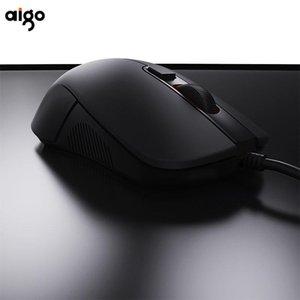Souris aigo wired souris mini-bureaux noirs jeu silencieux rechargeable ergonomie mause rétro-éclairé USB optique pour ordinateur portable