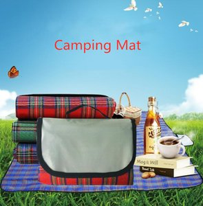 Portable Camping Mat Waterproof Picnic Blankets 150*180cm Foldable Outdoor Traveling Beach Mat 3 Colors Baby Play Mat