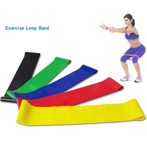 Yoga Pilate Stretch Resistance Bands Set Exercise Fitness Loop Training Tension Elastic Belt Natural Latex band 5pcs lot party favor FFA3892 BSF2