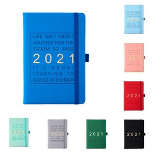 Blue 400 Pages Fashion Agenda English Thicken Journal Daily Business Office Work Notebooks Notepad Diary School Supplie Notepads
