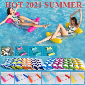Floating Water Hammock Swimming Pool Inflatable Air Mattress Beach Lounger Floating Sleeping Bed Chair Swimming Pool Toys Fast Shipping