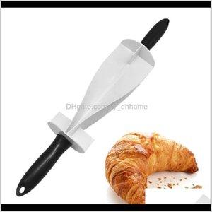 Herramientas Professional Plástico Rolling Cortador para hacer Croissant Pan Pasta Pastelería Madera Madera Horno Cuchillo de Cocina KHCUV LNWMC
