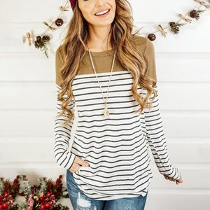 Maternity Tops & Tees Nursing T-shirt For Breastfeeding Blouses Spring Summer Cotton Long Sleeve Striped Pullover Y119