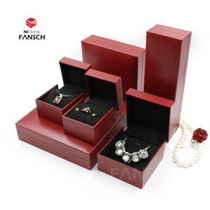 Scatola di gioielli di fascia elastica Diamond Box Box anelli di coppia Scatola Plus-Sized Pendant Bracelet Squisita Modello rosso Dislocazione