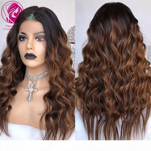 Lace Front Wig Water WAve Human Hair Wigs 13x4 13x6 Ombre 1b 30 33 Highlights Brazilian Remy Hair for Black Women 150% 180%