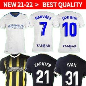 21 22 REAL Zaragoza SOCCER JERSEY 2021 2022 SHINJI KAGAWA jerseys André Pereira Alberto Soro camisetas de futbol Men kids kits FOOTBALL SHIRTS