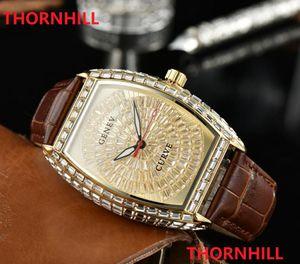 Alta Qualidade Moda Mens Mens Womens Watch Automatic Diamantes Bezel Sapphire Senhoras Vestido Relógios De Couro Pulseira Pulseira WristWatch