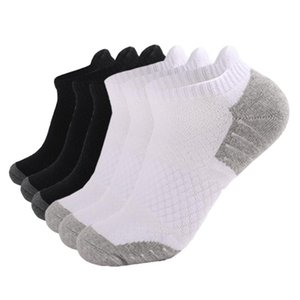 Men's Socks 6 Pairs Breathable Cotton Men Women Athletic Running Low Cut Boat Sports With Cushioning Slippers Ankle Male