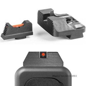 Tactical Pistol Single Small Fiber Optics Sight Mechanical Red Dot Sight For Handgun Glo ck Gen 3 and 4 G17 G19 FREE