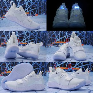 NEW Men Playstation x PG 2.5 2021 Basketball Shoes High Quality Paul George White Grey Athletic Shoes Size 7-12