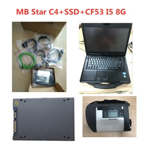 A++ Quality MB Star C4 SD Connect with Software 2020.12 SSD Laptop CF53 I5 work for diagnosis Diagnostic-Tool full kit