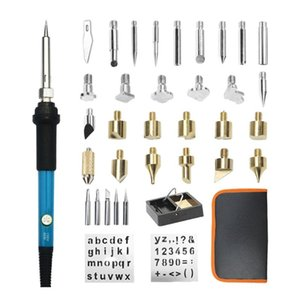 Hand & Power Tool Accessories 37PCS Soldering Iron Adjustable Temperature Electric Solder Rework Station Mini Handle Heat Welding Carving Py
