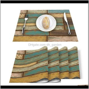 Runner Vintage Old Wooden Board Texture For Dining Non-Slip And Heat-Insulating Table Mat Decoration Placemat Ggf88 Wmnlz