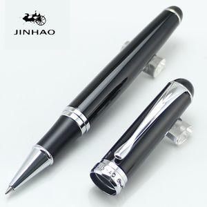 Jinhao 750 Исполнительные ролбервые ручки Черный и серебряный клип Канцтовары школьники школьники