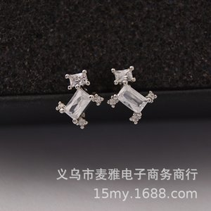 Personalized Chaoren Micro Inlaid Zircon Creative Dog Earbone Nails Titanium Steel Plated Platinum Earrings